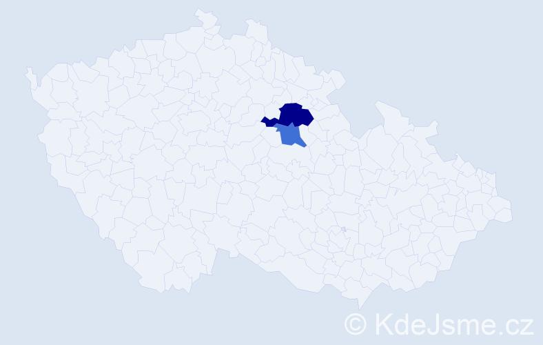 Příjmení: 'Čepregiová', počet výskytů 3 v celé ČR
