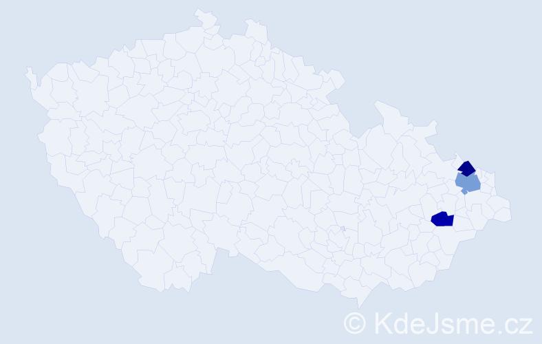 Příjmení: 'Děrkasová', počet výskytů 7 v celé ČR