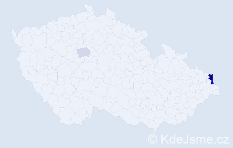 Příjmení: 'Kałużová', počet výskytů 6 v celé ČR