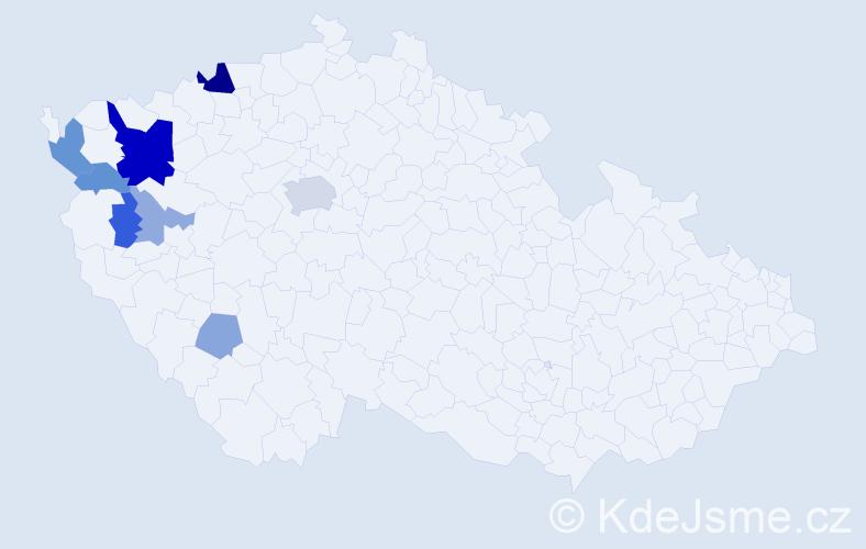 Příjmení: 'Hirschfeld', počet výskytů 21 v celé ČR