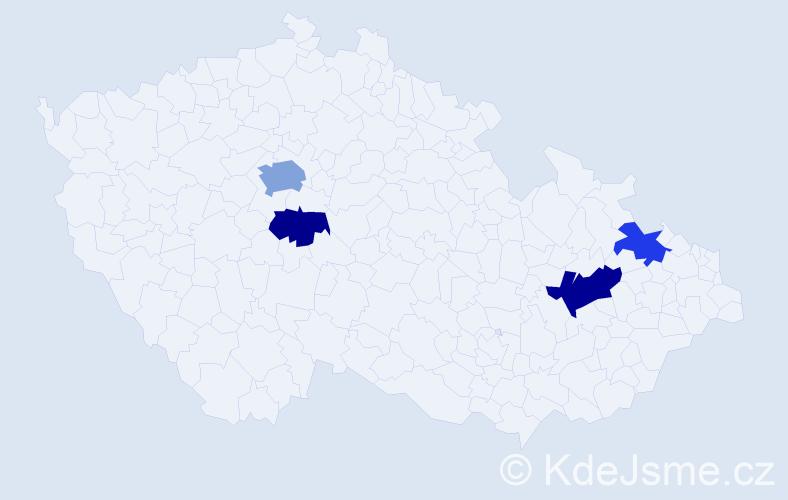 Příjmení: 'Ferrante', počet výskytů 7 v celé ČR