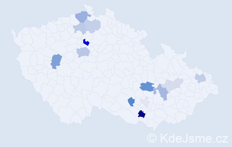Příjmení: 'Čornejová', počet výskytů 35 v celé ČR