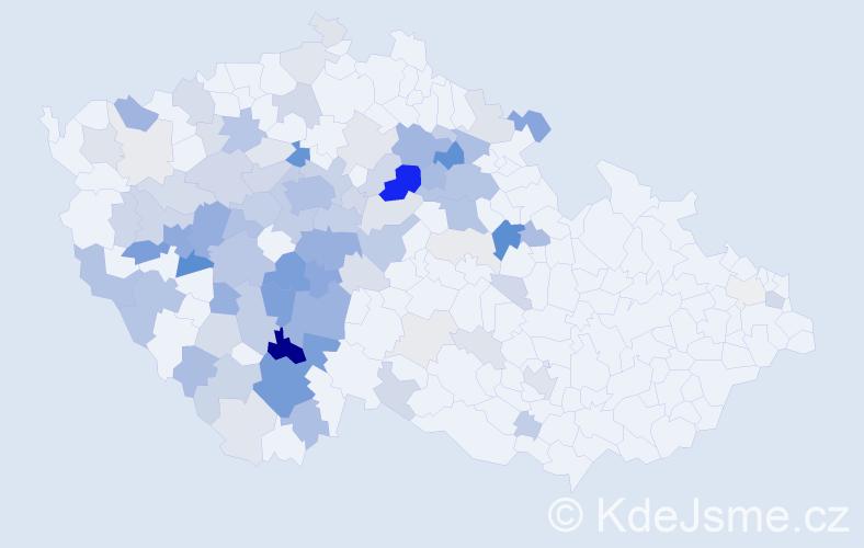 Příjmení: 'Čipera', počet výskytů 378 v celé ČR