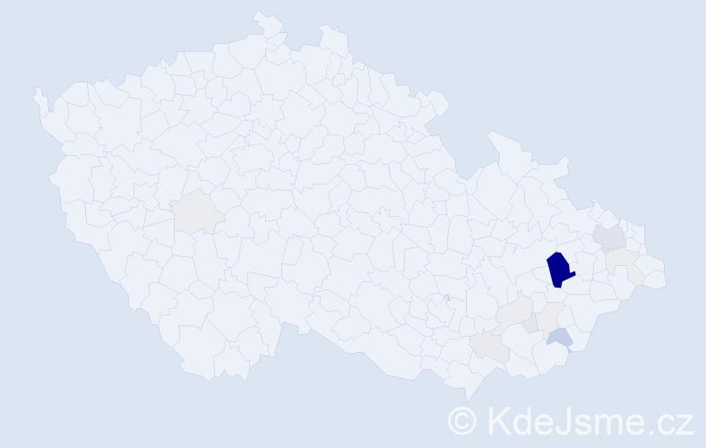 Příjmení: 'Cvešperová', počet výskytů 54 v celé ČR