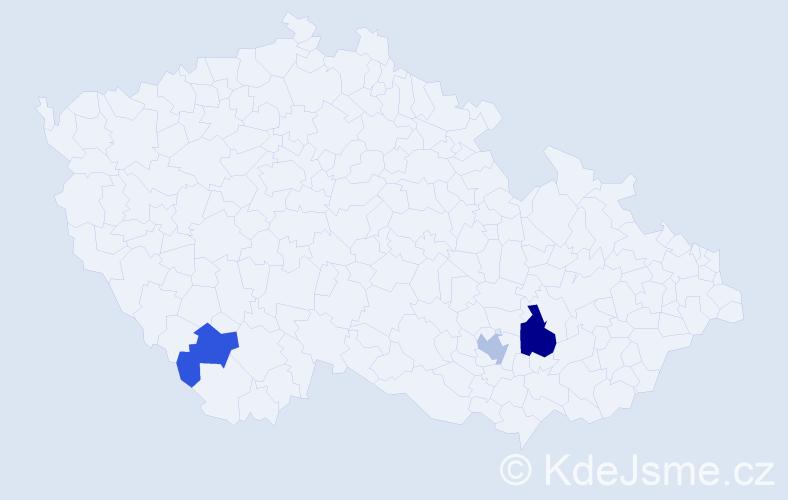 Příjmení: 'Karbáč', počet výskytů 10 v celé ČR