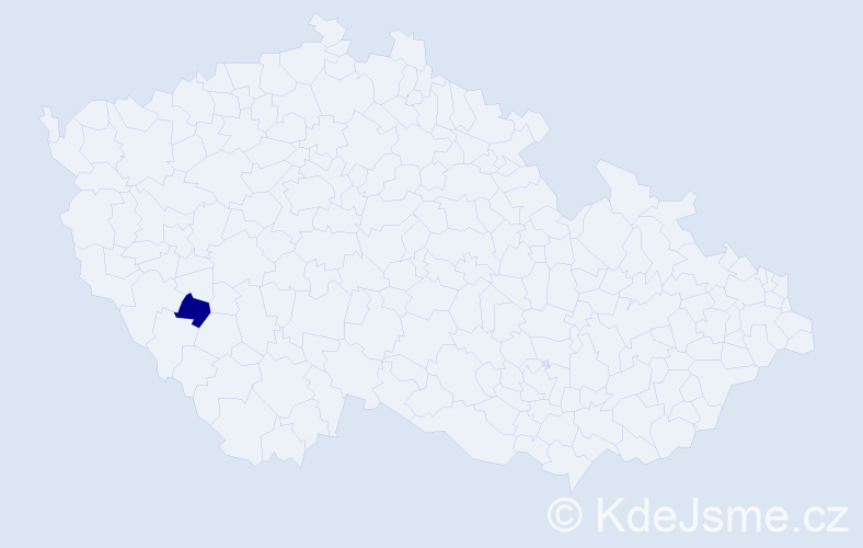 Příjmení: 'Grnáčová', počet výskytů 1 v celé ČR