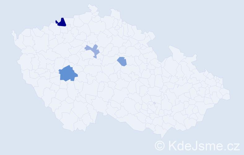 Příjmení: 'Gombová', počet výskytů 13 v celé ČR