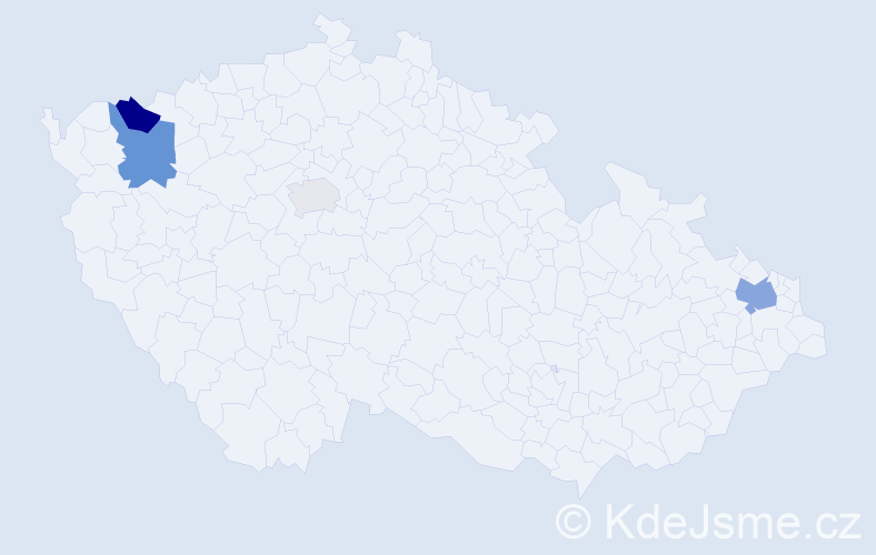 Příjmení: 'Gašperík', počet výskytů 8 v celé ČR