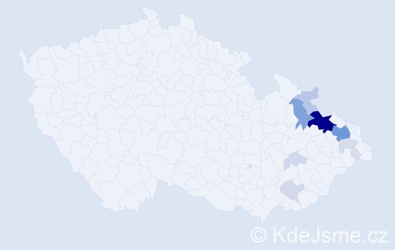 Příjmení: 'Foltys', počet výskytů 37 v celé ČR