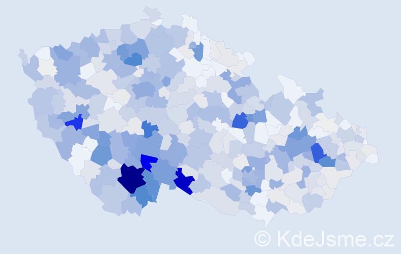 Příjmení: 'Kubešová', počet výskytů 2114 v celé ČR