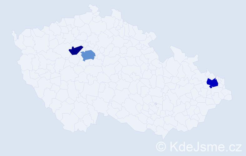 Příjmení: 'Igwe', počet výskytů 6 v celé ČR