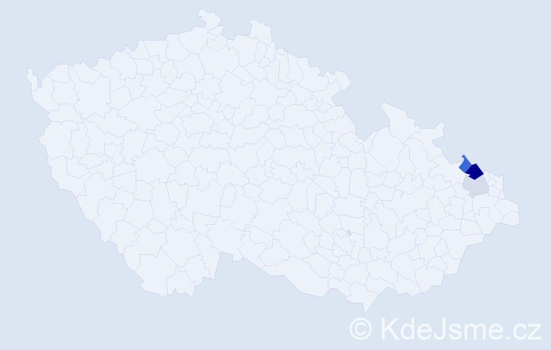 Příjmení: 'Gaiová', počet výskytů 16 v celé ČR