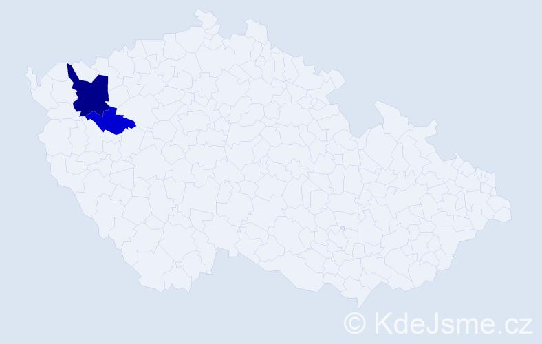 Příjmení: 'Čokotová', počet výskytů 5 v celé ČR