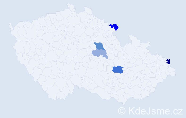 Příjmení: 'Čigelská', počet výskytů 12 v celé ČR