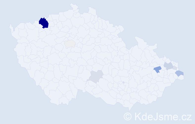 Příjmení: 'Germek', počet výskytů 29 v celé ČR