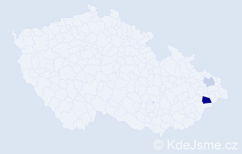 Příjmení: 'Idzior', počet výskytů 3 v celé ČR