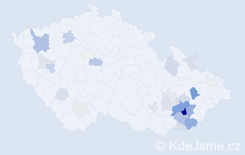 Příjmení: 'Ančinec', počet výskytů 83 v celé ČR