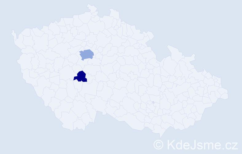 Příjmení: 'Černohausová', počet výskytů 7 v celé ČR