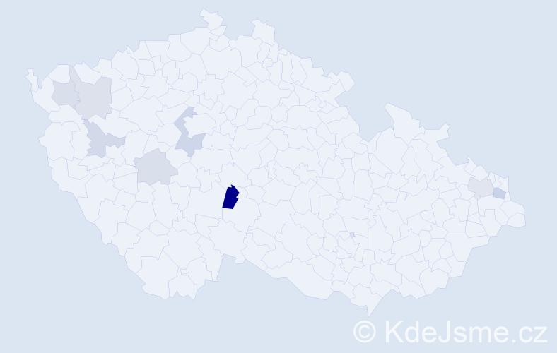 Příjmení: 'Fenár', počet výskytů 13 v celé ČR