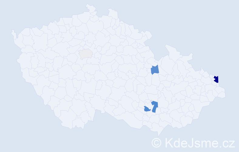 Příjmení: 'Balas', počet výskytů 12 v celé ČR
