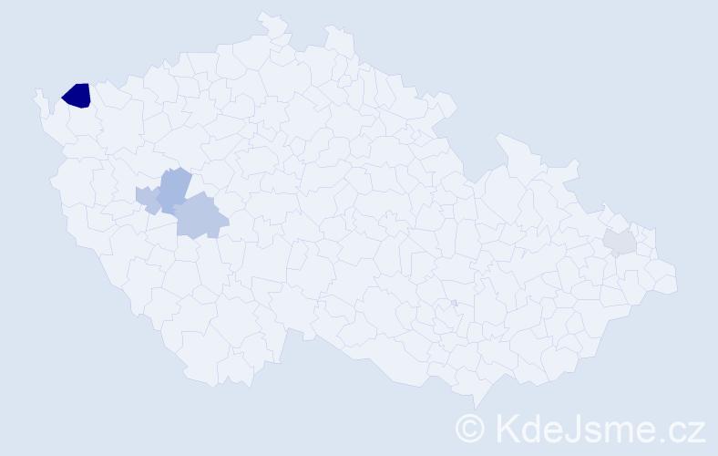 Příjmení: 'Čeporan', počet výskytů 7 v celé ČR