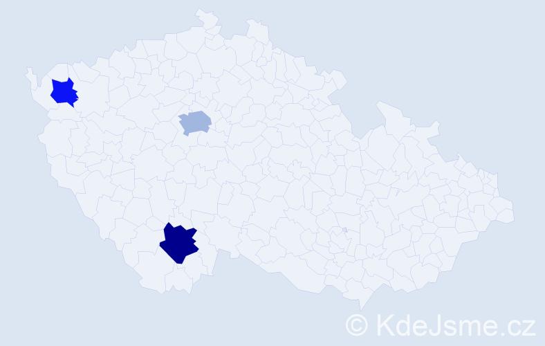 Příjmení: 'Fabišová', počet výskytů 5 v celé ČR