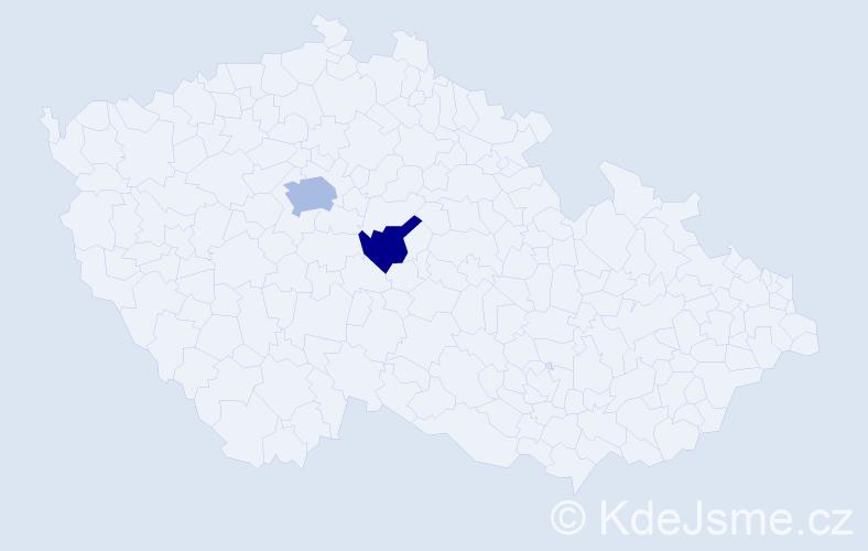"""Příjmení: '""""Al Hamwi""""', počet výskytů 3 v celé ČR"""