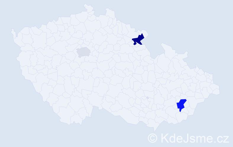 Příjmení: 'Kotopulu', počet výskytů 5 v celé ČR