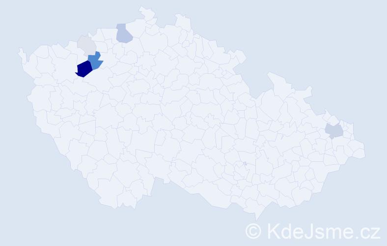 Příjmení: 'Darvasová', počet výskytů 22 v celé ČR