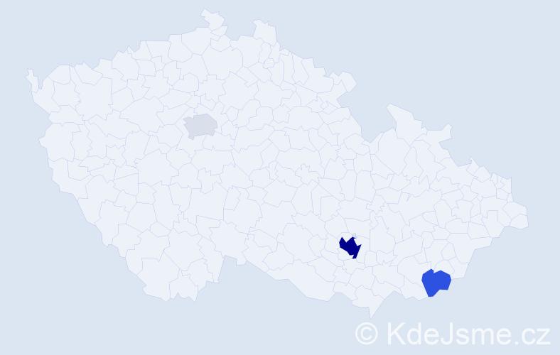 Příjmení: 'Balšíková', počet výskytů 9 v celé ČR