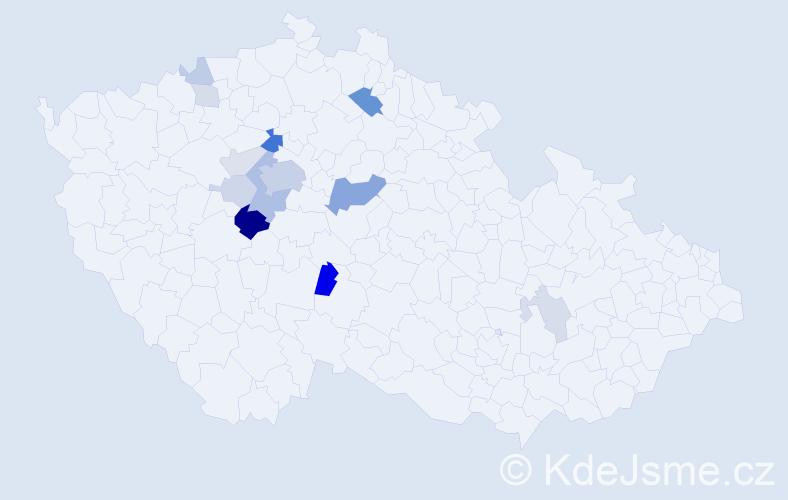 Příjmení: 'Dekastellová', počet výskytů 40 v celé ČR