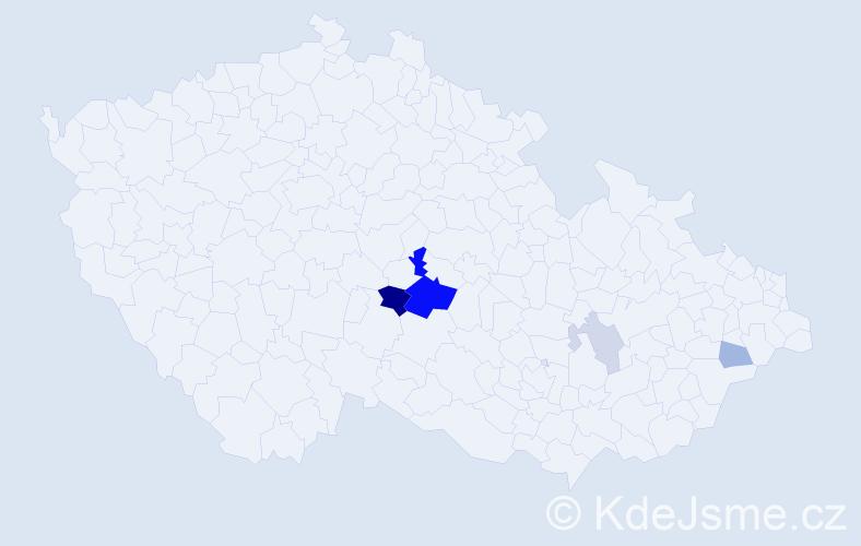 Příjmení: 'Jerml', počet výskytů 12 v celé ČR