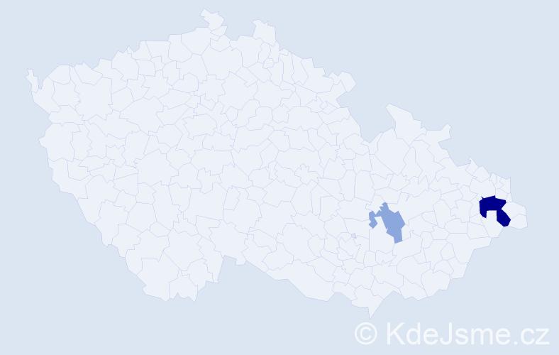 Příjmení: 'Güngör', počet výskytů 6 v celé ČR