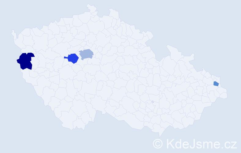 Příjmení: 'Čorosová', počet výskytů 6 v celé ČR