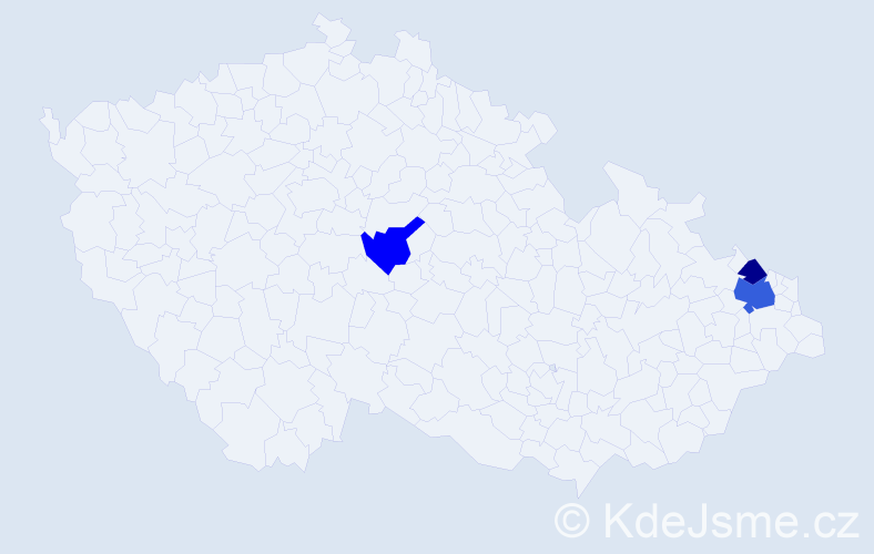 Příjmení: 'Labušová', počet výskytů 5 v celé ČR