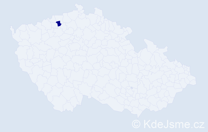 """Příjmení: '""""Jarošová Hejcmanová""""', počet výskytů 1 v celé ČR"""