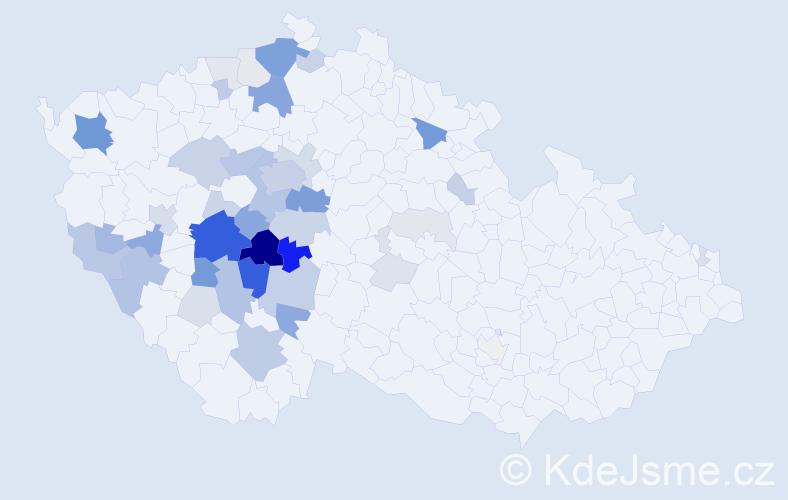 Příjmení: 'Čedíková', počet výskytů 156 v celé ČR