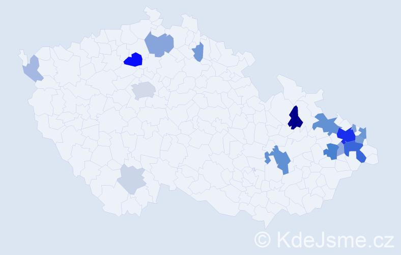 Příjmení: 'Larišová', počet výskytů 57 v celé ČR