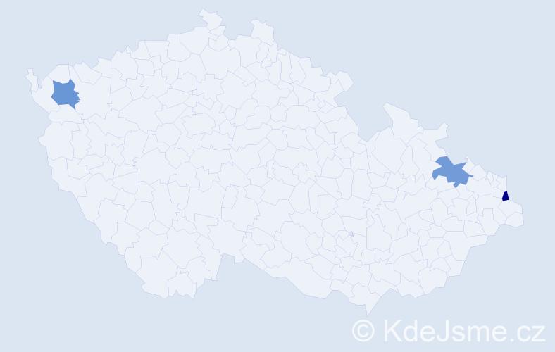 Příjmení: 'Cipková', počet výskytů 3 v celé ČR
