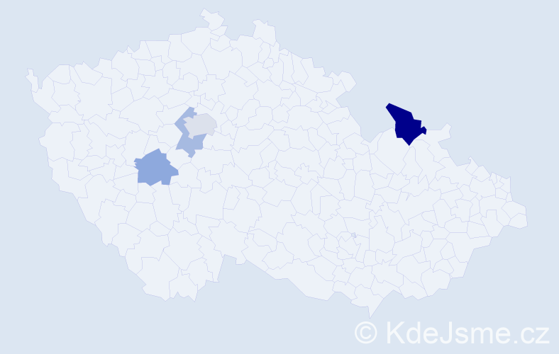 Příjmení: 'Lachorová', počet výskytů 7 v celé ČR