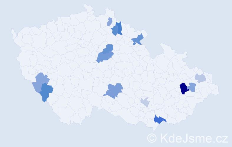 Příjmení: 'Leskovský', počet výskytů 23 v celé ČR