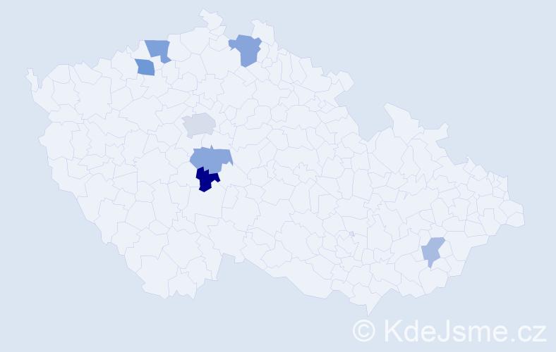 Příjmení: 'Ellschlögerová', počet výskytů 12 v celé ČR