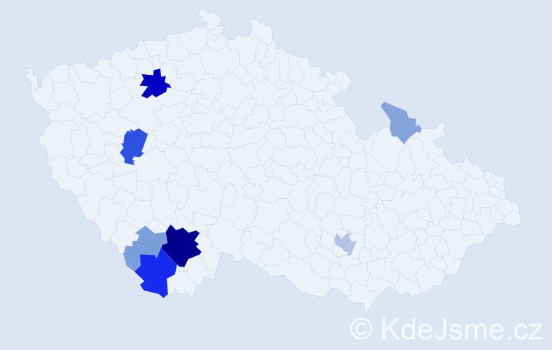 Příjmení: 'Edelman', počet výskytů 26 v celé ČR