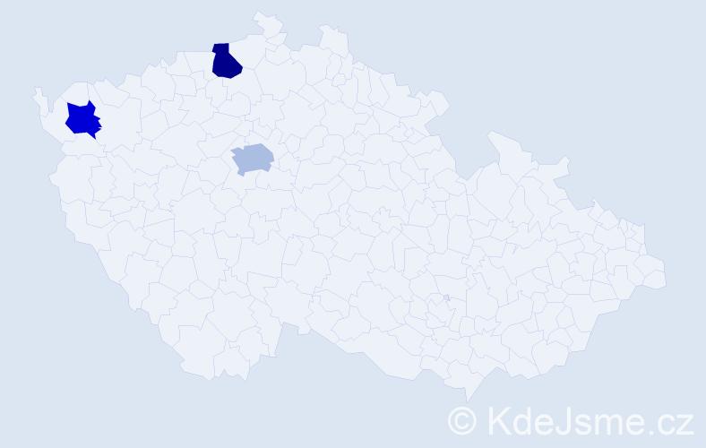 Příjmení: 'Lazarević', počet výskytů 8 v celé ČR
