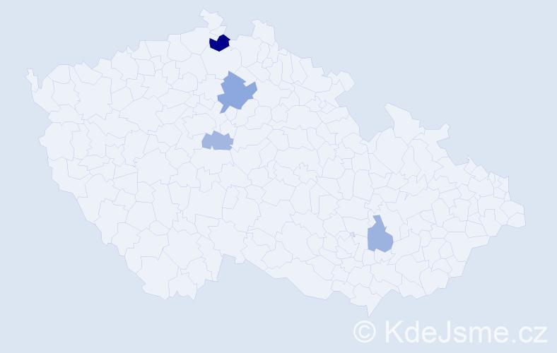 Příjmení: 'Kriššáková', počet výskytů 7 v celé ČR