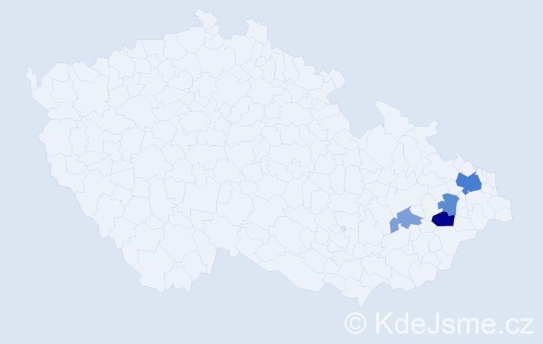 Příjmení: 'Ivasjuková', počet výskytů 9 v celé ČR