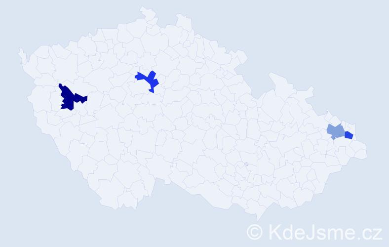Příjmení: 'Coyne', počet výskytů 4 v celé ČR