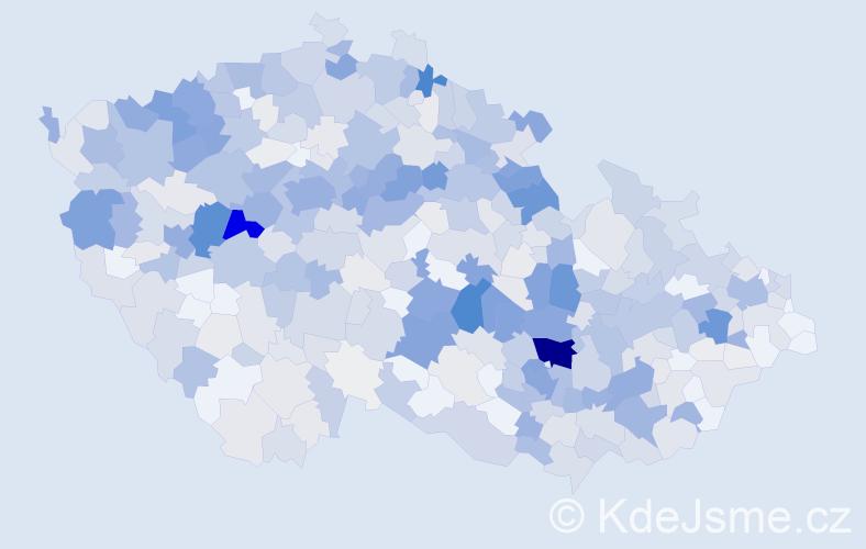 Příjmení: 'Kuncová', počet výskytů 2306 v celé ČR