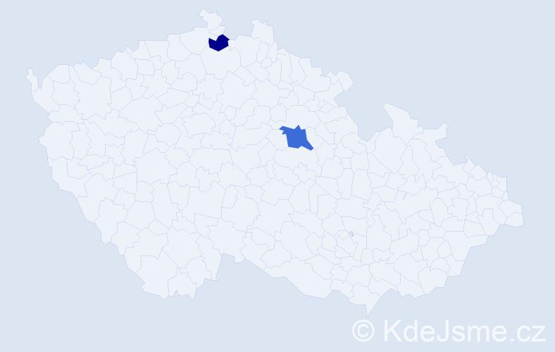 Příjmení: 'Harmat', počet výskytů 3 v celé ČR