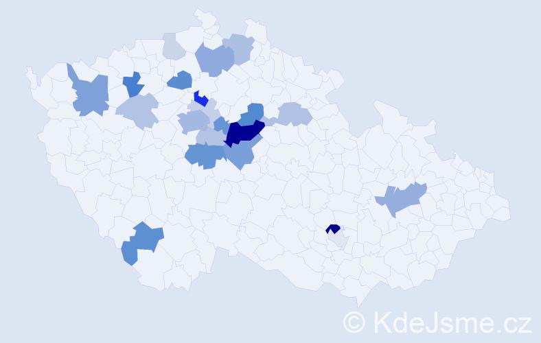 Příjmení: 'Ladýř', počet výskytů 62 v celé ČR